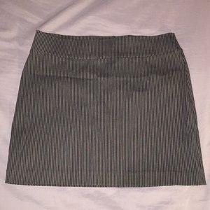 NWOT Pinstripe Mini Skirt